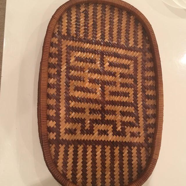 Vintage Hand Woven Basket - Image 11 of 11
