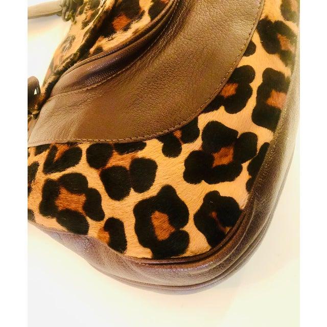 Transitional Dolce & Gabbana D & G Leopard Fur Satchel Purse For Sale - Image 3 of 10