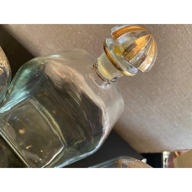 Late 19th C. Spanish Liquor Decanters With Gold Detailing - Set of 3 For Sale - Image 11 of 13