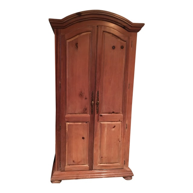 Vintage Traditional Wooden Armoire - Image 1 of 6