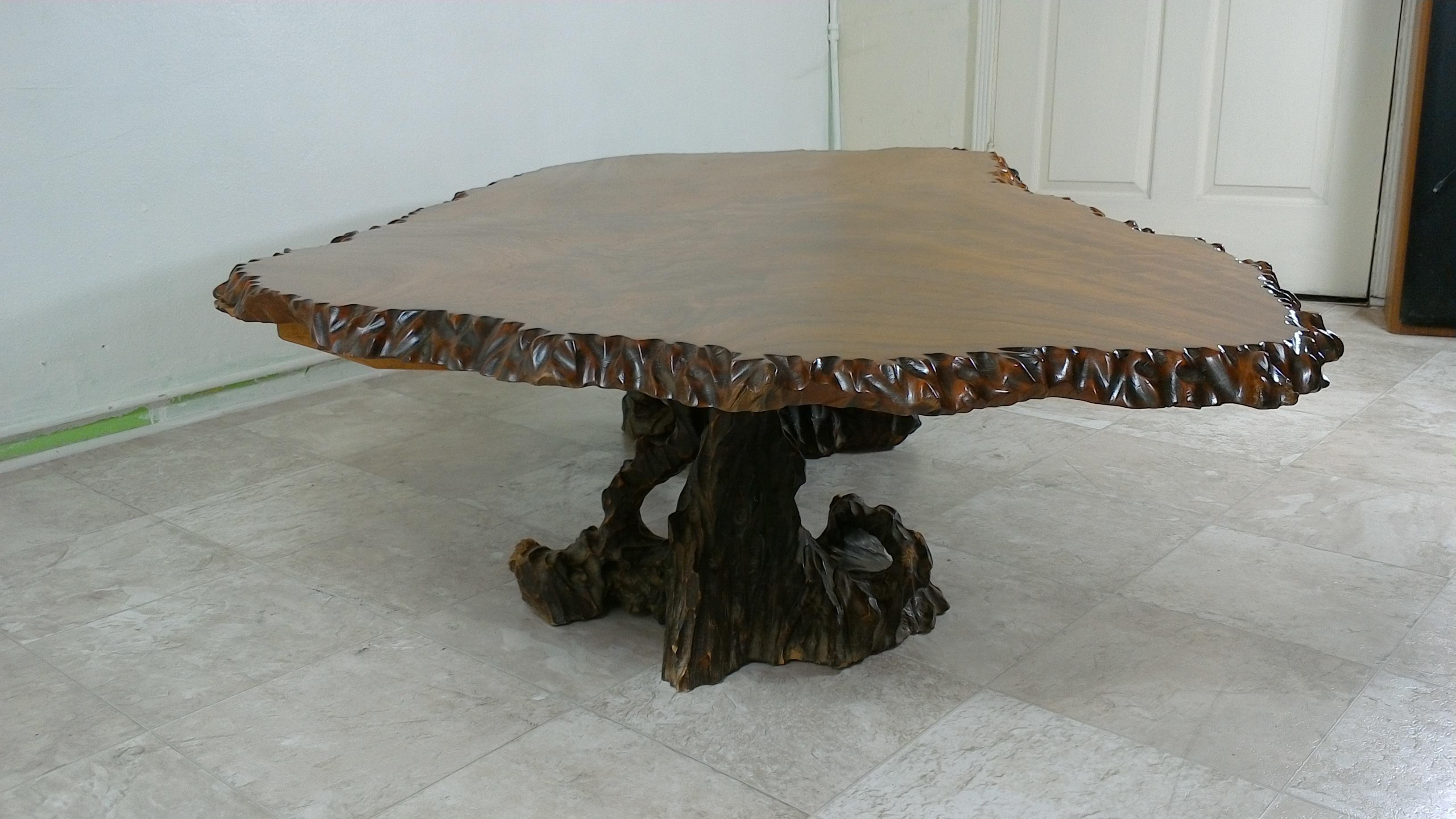 Koa Wood Log Coffee Table   Image 2 Of 11