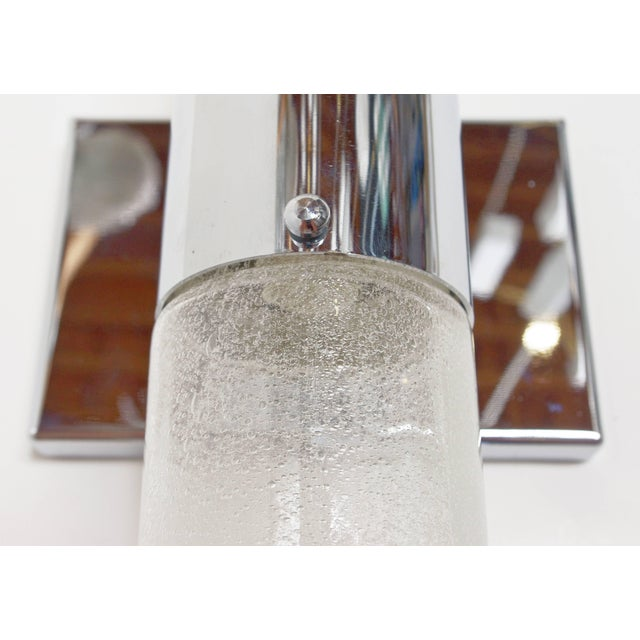 Italian Murano Bollicine Glass Tubes Sconce by Carlo Nason For Sale In Palm Springs - Image 6 of 9