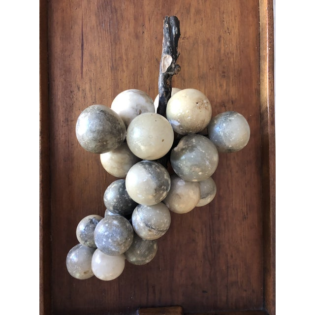Vintage Alabaster Large Grape Cluster Made in Italy For Sale - Image 9 of 10