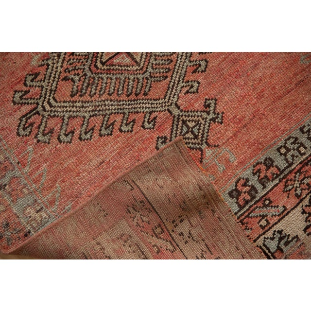 "Red Vintage Distressed Patchwork Oushak Rug Runner - 2'10"" X 10'7"" For Sale - Image 8 of 12"
