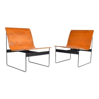 Günter Renkel for Rego Bentwood Lounge Chairs, Germany, 1959 - a Pair For Sale