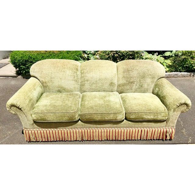 1990s Vintage Edward Ferrell Green Fringe Sofa For Sale - Image 13 of 13