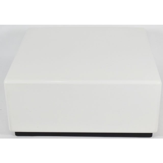 Wood Milo Baughman Cube Style Coffee Table For Sale - Image 7 of 7