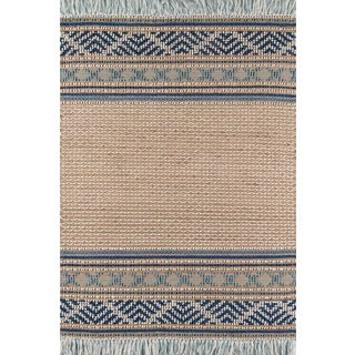 """Esme Blue Hand Woven Area Rug 3'9"""" X 5'9"""" For Sale"""