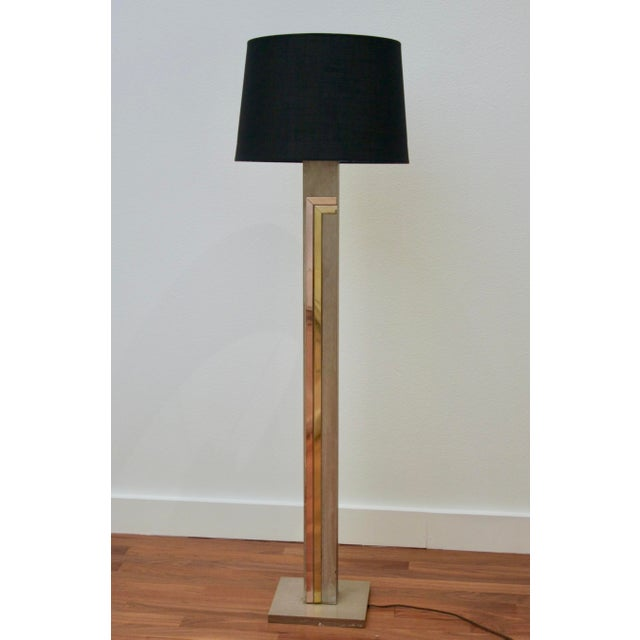 Boho Chic 1970's Pierre Cardin for Laurel Floor Brass & Copper Accents Lamp For Sale - Image 3 of 10