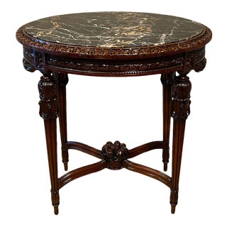 20th Century French Provincial Heavily Cured Side Table For Sale