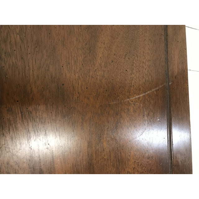 Late 20th Century Hekman Walnut Side Tables - Pair For Sale - Image 5 of 13