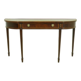 Hekman Figural Mahogany 1 Drawer Console Table For Sale