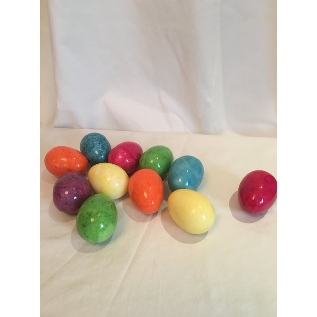 Italian Alabaster Marble Easter Eggs - Set of 11 For Sale - Image 4 of 4