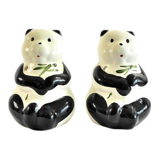 Vintage Panda Bear Ceramic Cocktail Tiki Mugs – a Pair