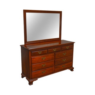 Link Taylor Vintage Solid Cherry Treasure House Dresser W/ Mirror For Sale