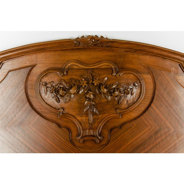 Late 19th Century French Burl Walnut Bed For Sale In New York - Image 6 of 13