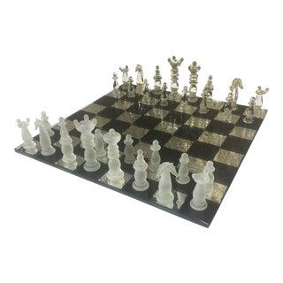 Italian Murano Glass Chess Set - Set of 33 For Sale