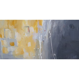 """""""50 Shades of Gray & Yellow"""" Giclee Canvas Print"""