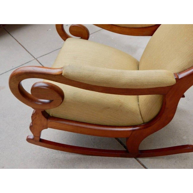 Brown 19th Century Antique Swedish Biedermeier Rocking Chair For Sale - Image 8 of 13
