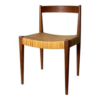1950s Nanna and Jorgen Ditzel Teak Cane Desk Chair For Sale