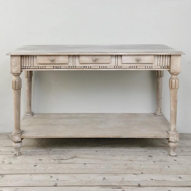 Antique Country French Whitewashed Console ~ Sofa Table For Sale - Image 13 of 13