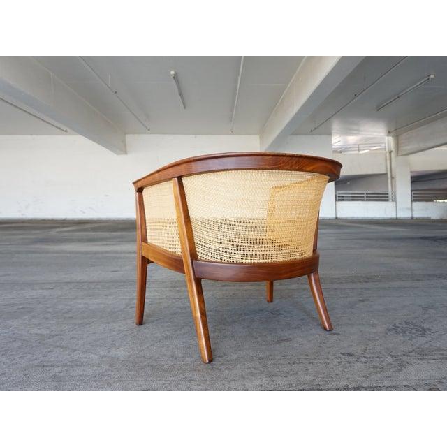 Milo Baughman Cane Back Lounge Chair - Image 4 of 6