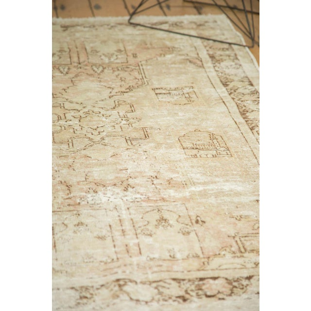 "Vintage Distressed Oushak Rug - 4' x 5'11"" - Image 10 of 10"