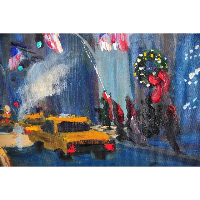 """Downtown Manhattan 4th July,"" Oil Painting - Image 5 of 10"