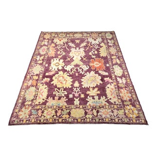"Bellwether Rugs ""Heather"" Colorful Oushak Rug - 9′1″ × 11′3″ For Sale"