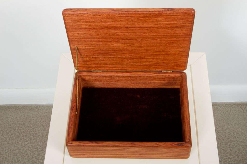 Incredible Rectangular Teak Jewelry Box DECASO