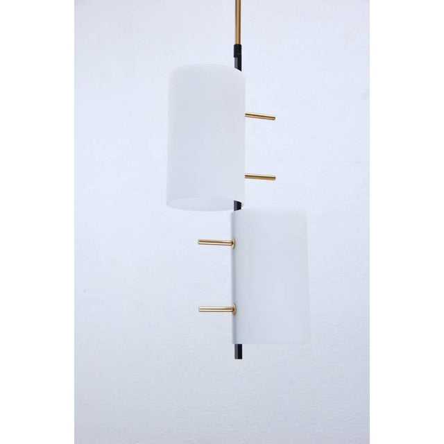 Blown Glass Mid-Century Modern Stilnovo Pendants For Sale - Image 7 of 10
