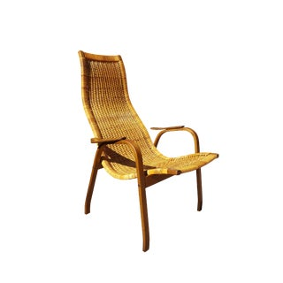 Yngve Ekström for Dux Scandinavian Caned Lounge Chair