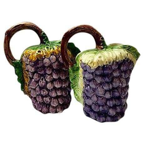 Italian Ceramic Vine Pitchers - A Pair For Sale