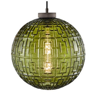 Laguna Olive Glass Pendant Light For Sale