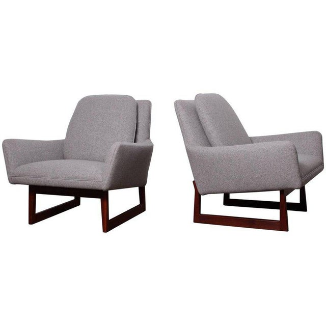 Pair of Lounge Chairs by Jens Risom For Sale - Image 13 of 13