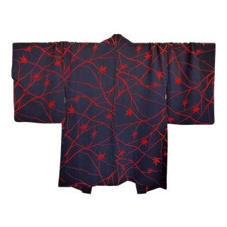 1950's Japanese Handmade Silk Kimono Haori Jacket For Sale