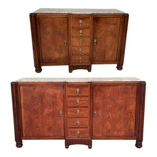 20th Century French Mahogany and Macasar Art Deco Sideboards - a Pair For Sale