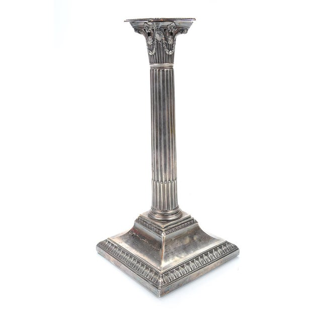19th Century Silver Column Candleholders - A Pair - Image 4 of 9