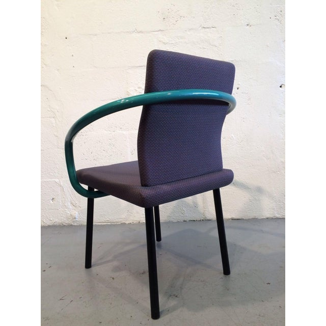 Ettore Sottsass Mandarin Chairs for Knoll - A Pair For Sale - Image 10 of 11