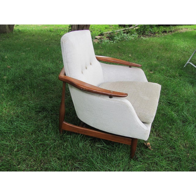 Mid 20th Century Vintage Mid Century Finn Juhl Style Lounge Chair For Sale - Image 5 of 13