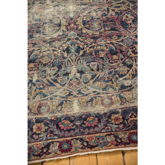 "1920s Vintage Yezd Carpet - 9'2"" X 11'9"" For Sale - Image 5 of 13"