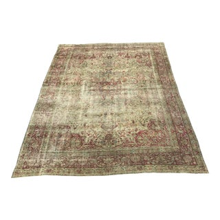 1920s Antique Persian Rug - 8′10″ × 11′3″ For Sale