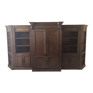 6 Piece Entertaimment Center and Bookcase For Sale