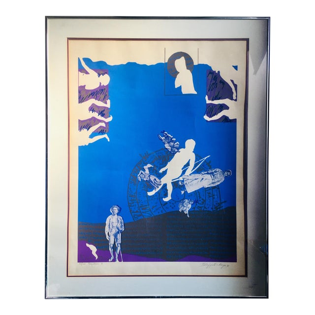 "1976 ""Forefathers II"" Silkscreen Print by Imelda Cajipe-Endaya For Sale"