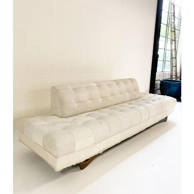 Our master upholstery team had a brilliant design idea when they came upon this vintage Adrian Pearsall sofa. The ends of...