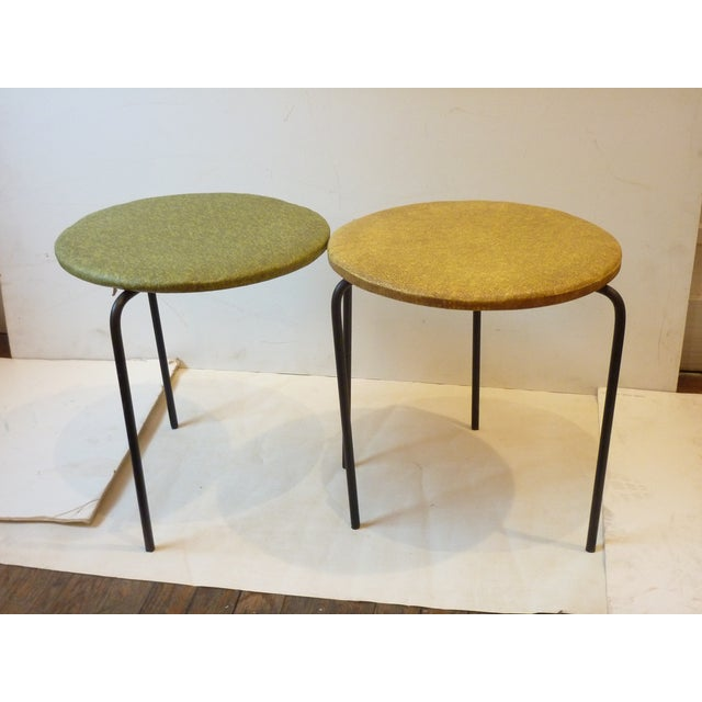 1950's Modern Iron Tripod Stools - A Pair For Sale In Boston - Image 6 of 6