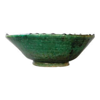 Tamegroute Pottery Green Bowl