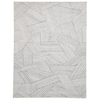 Contemporary Area Rug With Bauhaus Style Textured Area Rug - 9′ × 11′10″ For Sale