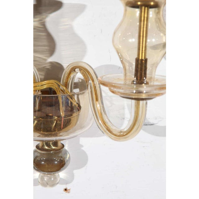 Early 20th Century Vintage Italian Murano Glass Sconces - A Pair For Sale - Image 5 of 7