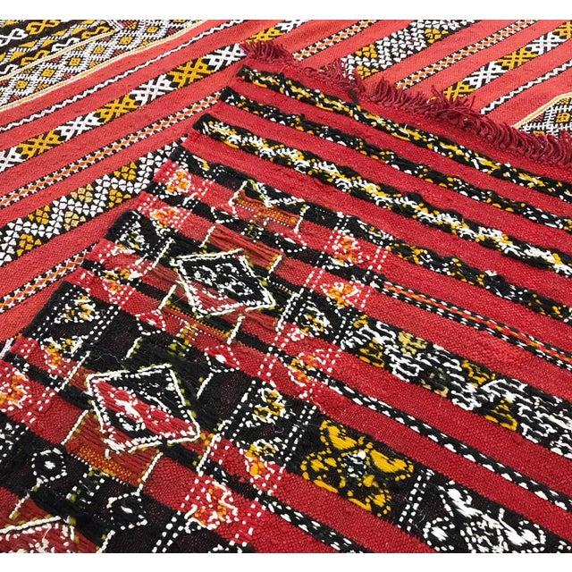 Moroccan Handmade Kilim Rug - 7′6″ × 11′6″ - Image 9 of 11